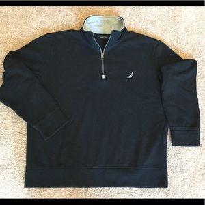 NAUTICA half-zip sweatshirt, L, Black